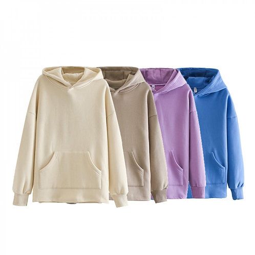 Toppies Loose Oversize Hoodies Sweat-shirt Femme Automne Hiver