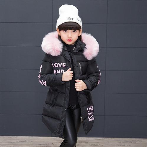 Girl Winter Jacket Children's Thicken Jacket Kids Cotton-Padded