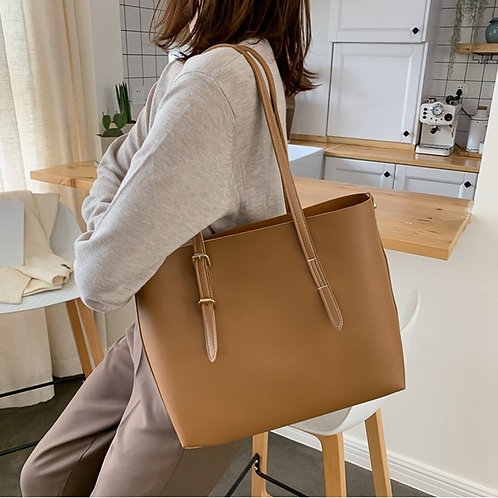 SMOOZA Women Bag Solid Women's PU Leather Handbags Luxury