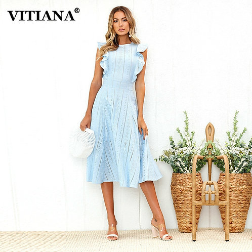 VITIANA Women Office Casual Maxi Long Midi