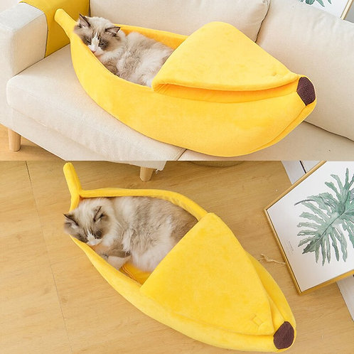Funny Banana Cat Bed House Cute Cozy Cat Mat Beds Warm