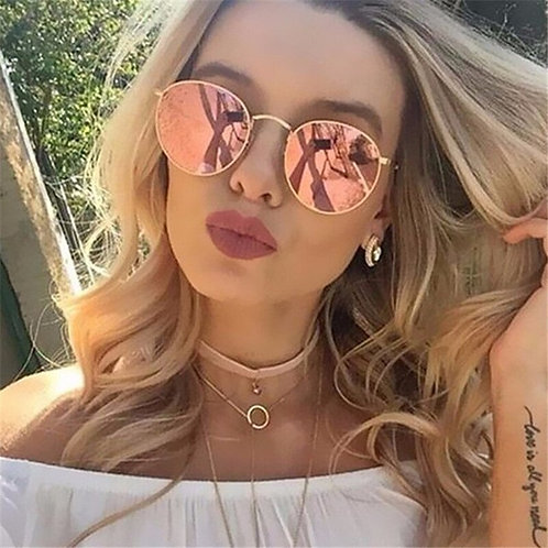 Luxury Brand Design Round Sunglasses Women Men Brand Designer Vintage Retro
