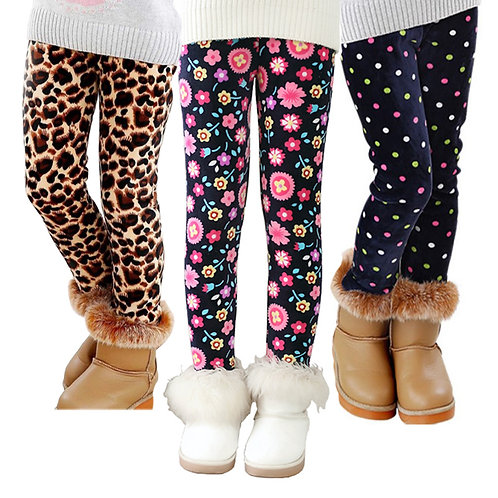 VEENIBEAR Autumn Winter Girls Pants Velvet Thicken Warm Girls