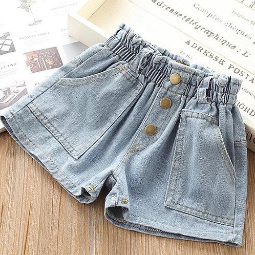 DFXD Spring Autumn Baby Clothing Girls Denim Short Pants