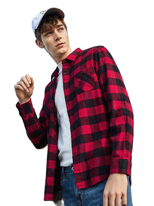Semir Flannel Plaid Shirt Men 2019 Long Sleeve Shirt Men's Cotton