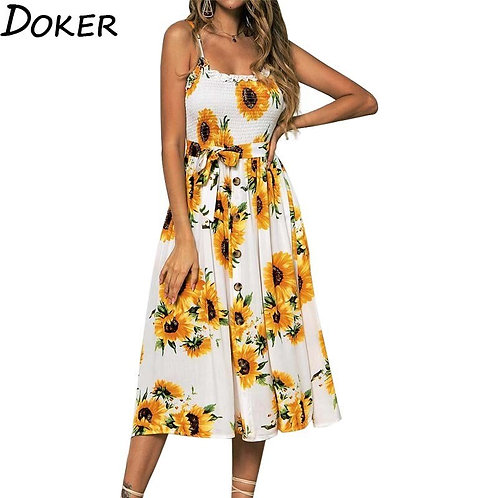 2020 Summer Casual Floral Strap Dress
