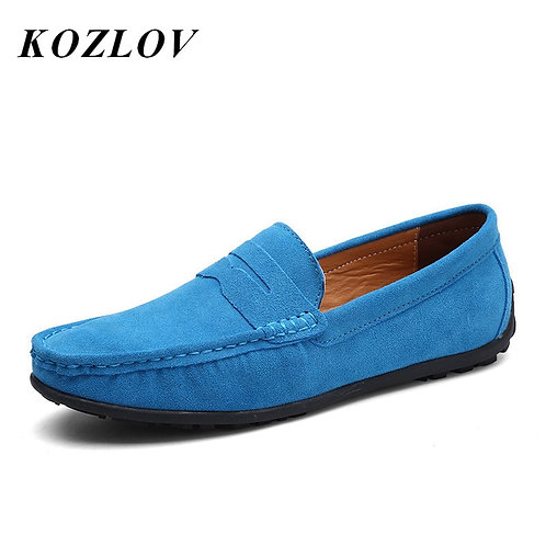 KOZLOV Luxury Italian Brand Casual Shoes Men Suede Leather
