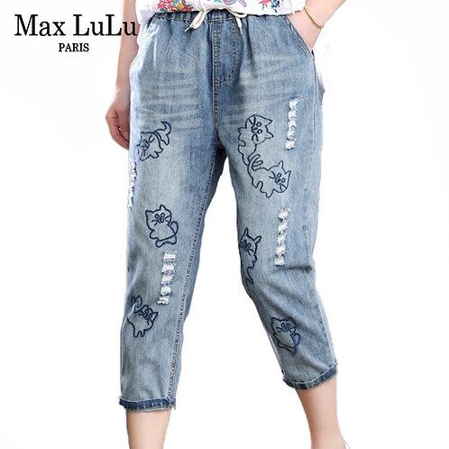 Max LuLu 2020 Summer Korean Fashion Ladies Vintage Denim
