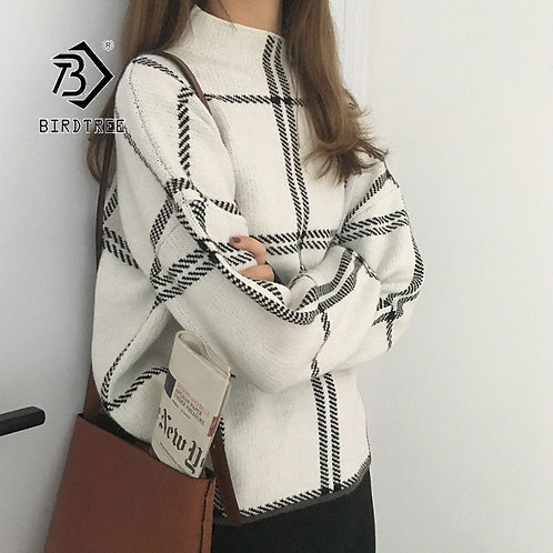 2019 Ins Winter New Women's Pullovers Sweater Fashion Plaid