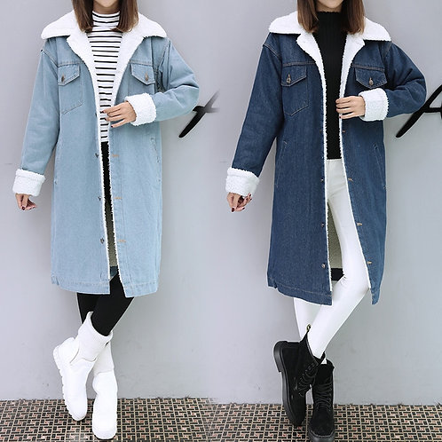 Hodisytian Winter Fashion Women Trench Thick Coat Full