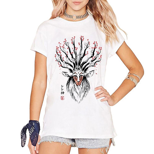 Deer God Princess Mononoke of the Forest Design Women T Shirt