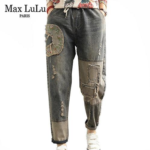 Max LuLu 2020 Fashion Style Autumn Streetwear Womens Holes