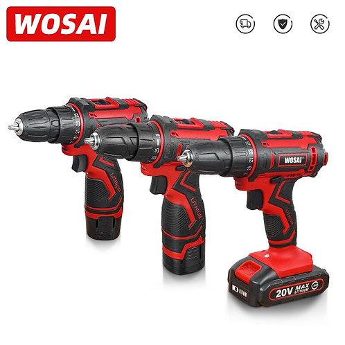 WOSAI 12V 16V 20V Cordless Drill Electric Screwdriver Mini Wireless