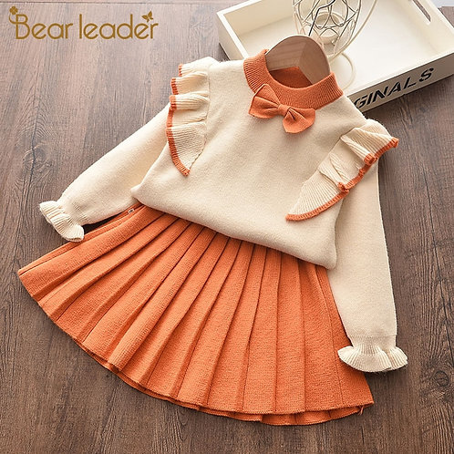Bear Leader Newborn Girls Warm Dress Cute Autumn Winter New