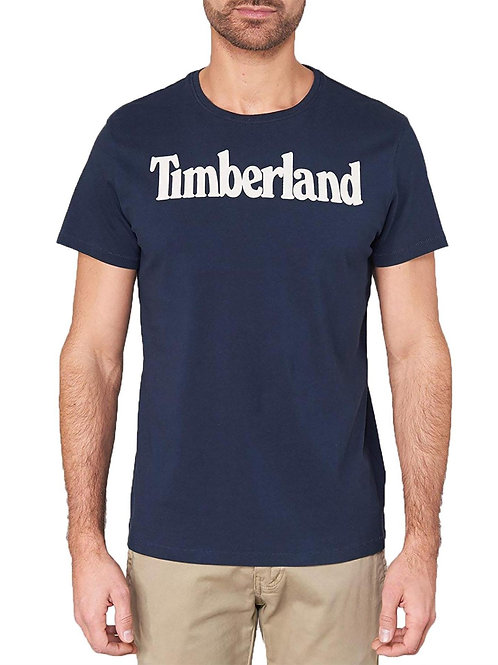 Timberland Man's T-Shirt Blue Tb0a1l60h78