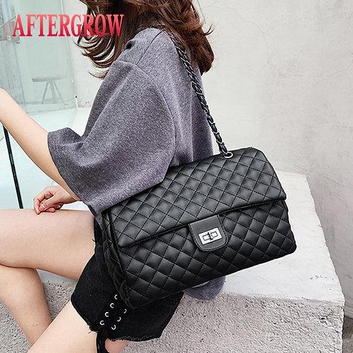 Classic Diamond Pattern Women Plaid Messenger Bag Big Square