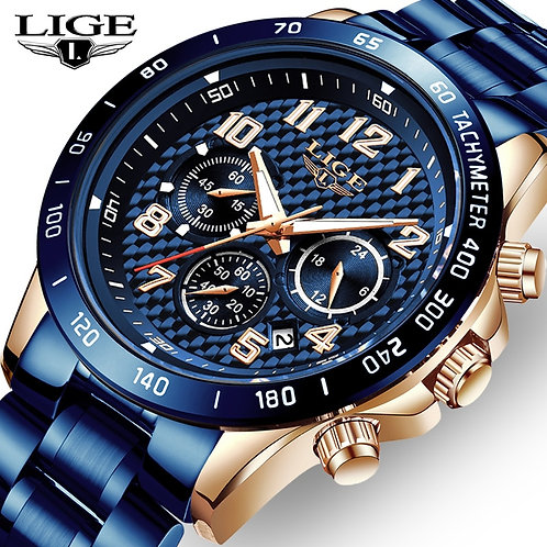 LIGE 2020 New Arrival Men Watches Top Luxury Brand Sport