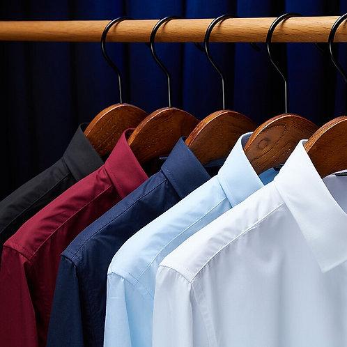 New High Quality 100% Cotton Men's Oxford Shirts Long Sleeve