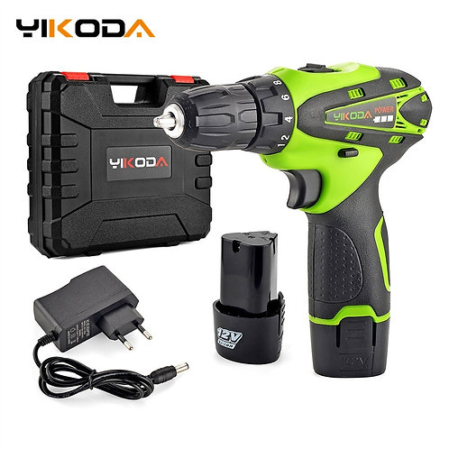 YIKODA 12V Electric Screwdriver Lithium Battery Rechargeable