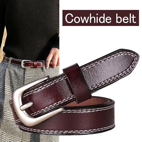 DINISITON Belt Women Trendy Genuine Leather Belts for Men