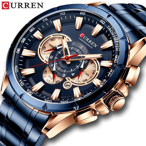 CURREN Luxury Brand Men's Watch Blue Quartz Wristwatch