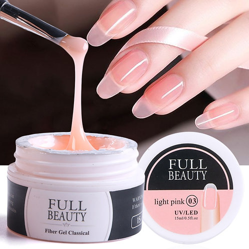15ml Quick Building Gel for Nail Extension Acrylic White Clear