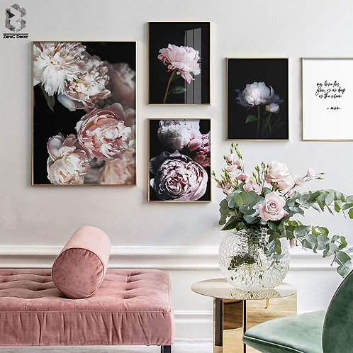 Christmas Decor for Home, Rose Flowers Posters Canvas Painting