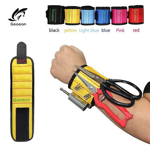 Geoeon Polyester Magnetic Wristband 10pcs Strong Magnets