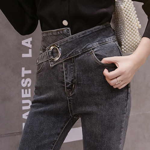 Ripped Jeans Women 2020 New Autumn High Waist Casual Elastic