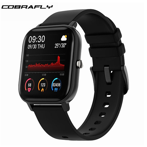 Cobrafly P8 Smart Watch Men Women 1.4inch Full Touch Fitness