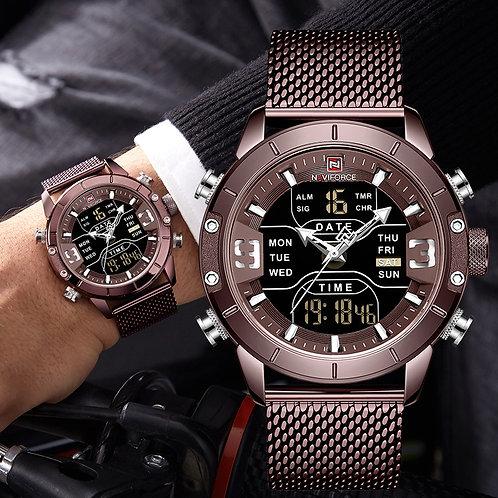 2020 NAVIFORCE Sport Analog Digital Watches Men Luxury