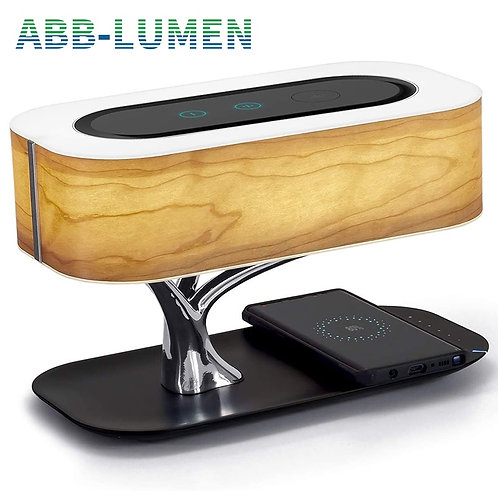 Modern Led Table Lamp for Bedroom Dimmable Bluetooth Speaker Phone