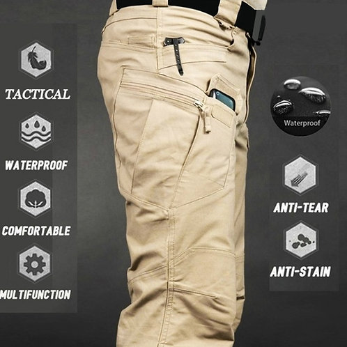 Mens Camouflage Cargo Pants Elastic Multiple Pocket  Military
