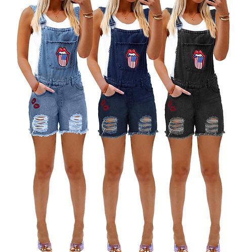 Women's Bib Leggings, Ripped Jeans for Women
