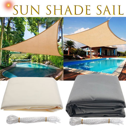 Waterproof Sun Shelter Triangle Sunshade Protection Outdoor