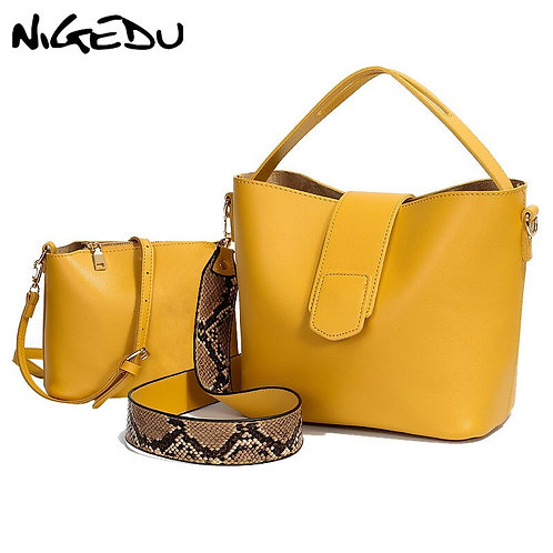 PU Leather Shoulder Bags for Woman Messenger Bags Serpentine