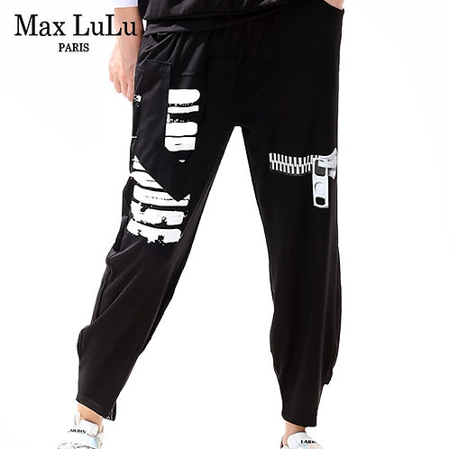 Max LuLu 2020 Autumn European Fashion Ladies Loose Sweatpants Womens