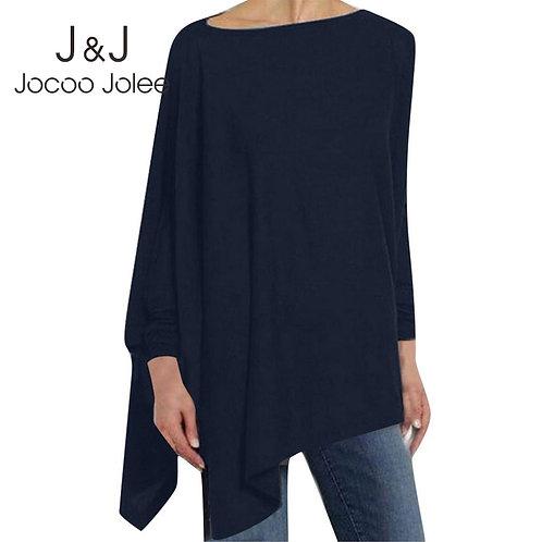 Jocoo Jolee Women Causal Long Sleeve Cotton Blouse Spring
