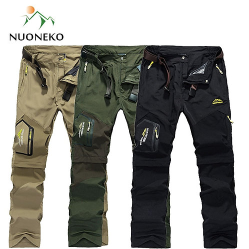 NUONEKO Quick Dry Removable Hiking Pants Outdoor 6XL