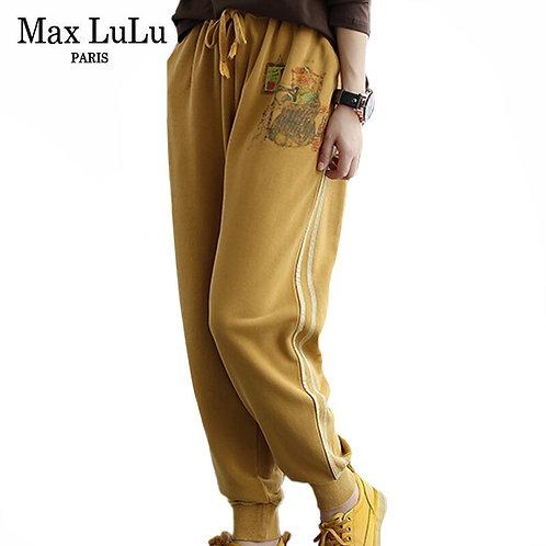 Max LuLu 2020 Autumn Fashion Korean Ladies Designs Printed