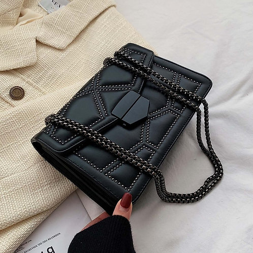 Rivet Chain Small Crossbody Bags for Women
