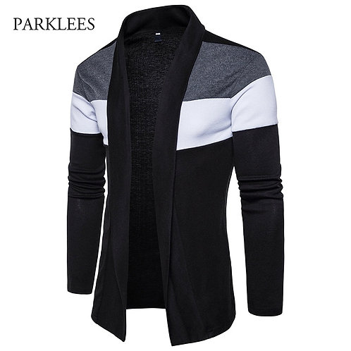 Shawl Collar Cardigan Men Pull Homme 2017 Fashion Autumn