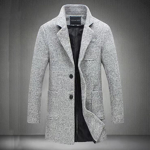 Newest Long Woollen Overcoat for Men Winter Fashion Trench Coat
