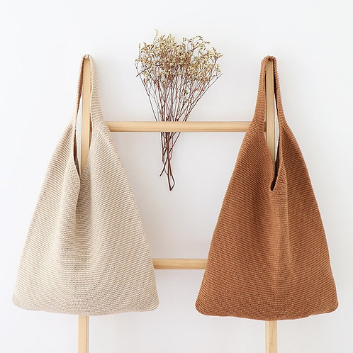 Crochet Vest Design Handbag Women Vintage Retro