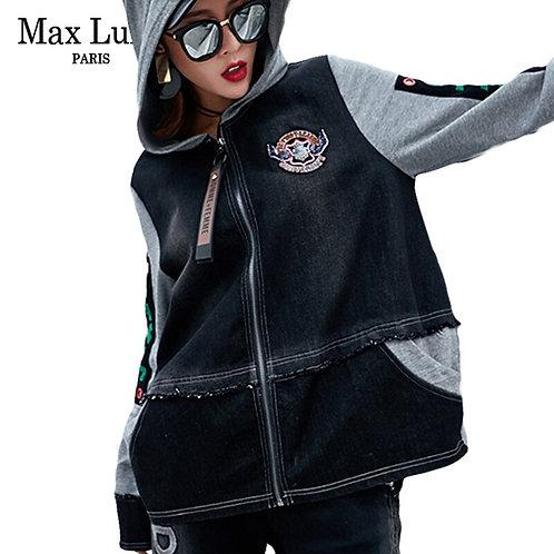 Max LuLu Luxury Korean Brand Harajuku Girls Biker Streetwear Womens Denim