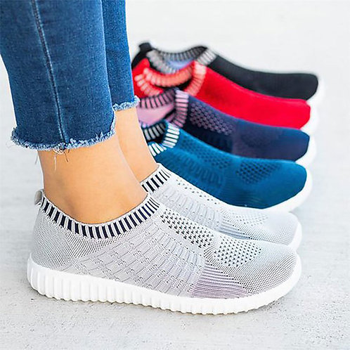 Sneakers Women Shoes 2020 Solid Color Round Toe Light