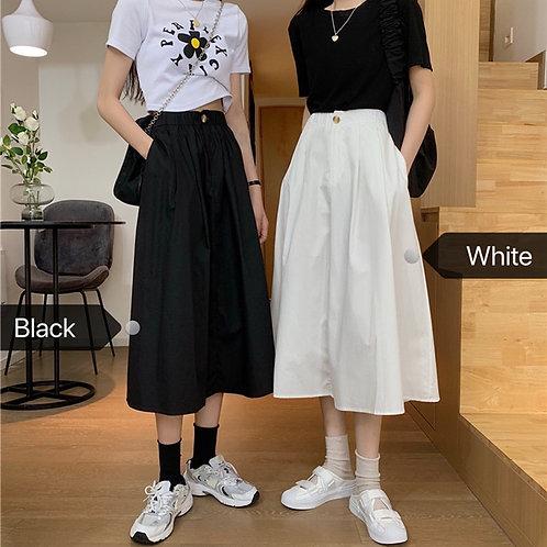 Womens Skirt Vintage Clothes Long Skirts Black Harajuku Summer