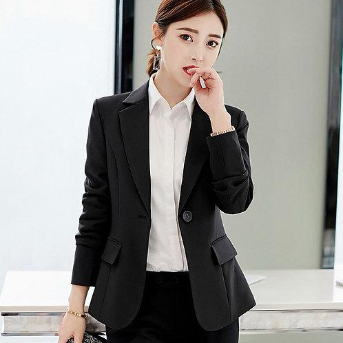PEONFLY  Autumn 2019 Ladies Blazer Long Sleeve Women Suit