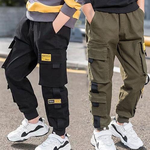 EACHIN Boys Pants Boys Pants Solid Cargo Pants Teenage Boy