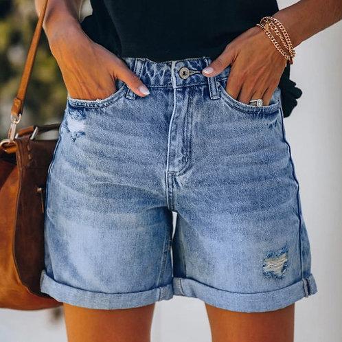 Summer Women Denim Shorts Fashion Womens Pocket Jeans Female